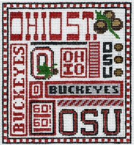 College Needlepoint - Ohio State