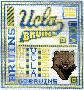 College Needlepoint - UCLA