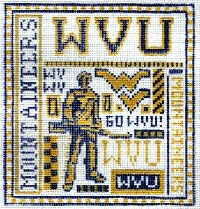 College Needlepoint - U of West Virginia