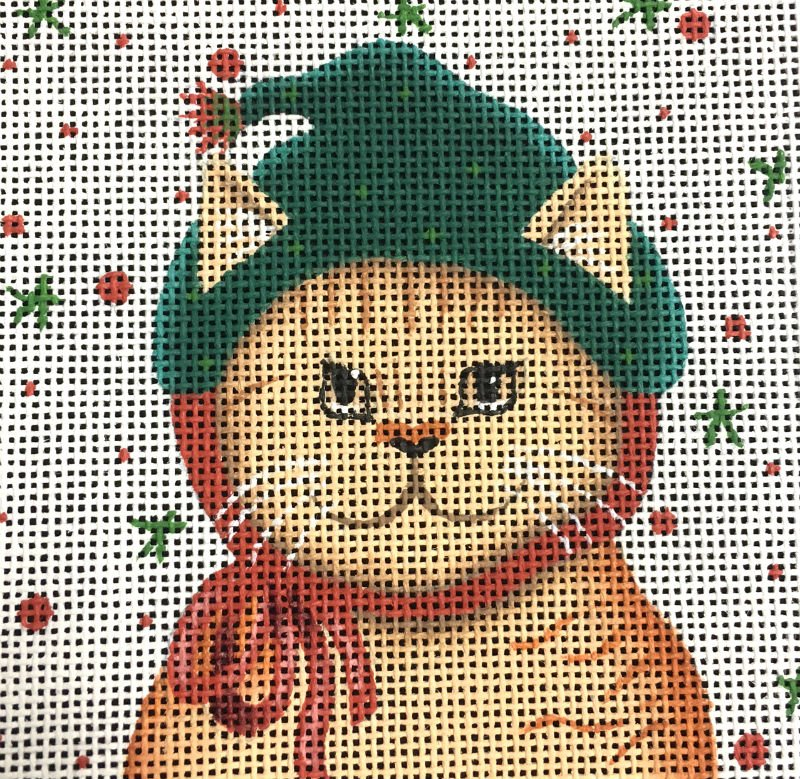 Tabby Cat Needlepoint