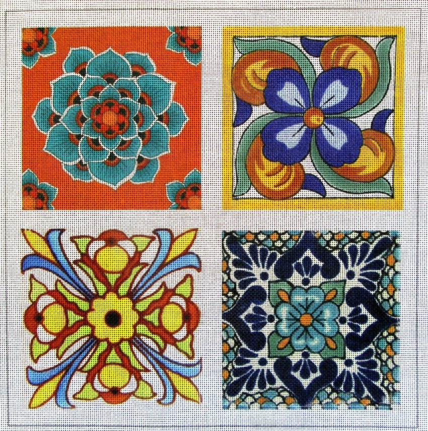 Talavera Tile #2 Needlepoint