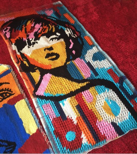tapestry girl contemporary art
