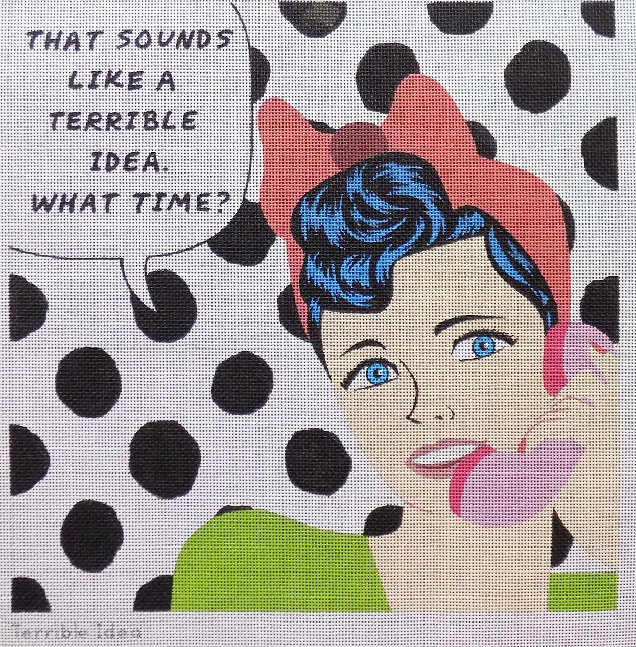 Pop Art Needlepoint Terrible Idea