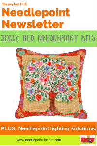 needlepoint newsletter jolly red kits