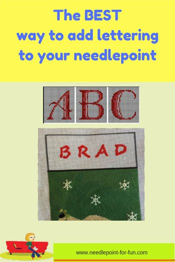 the best way to add lettering to your needlepoint