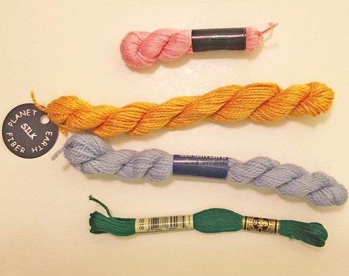 Different thread types: cotton, silk & wool