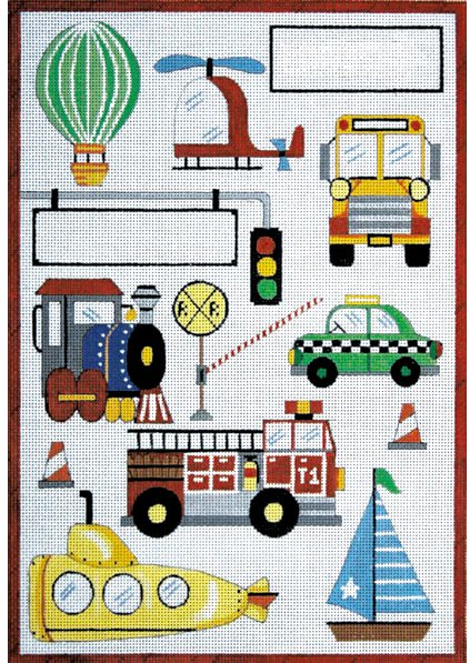 Transportation II Needlepoint