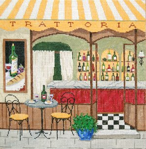 Trattoria Needlepoint By Sandra Gilmore
