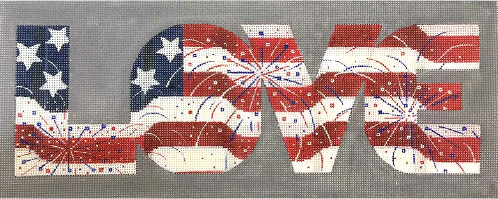 USA Love Needlepoint