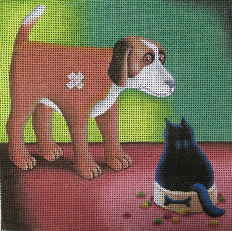 Vicky Mount Needlepoint<BR>Dog's Dinner
