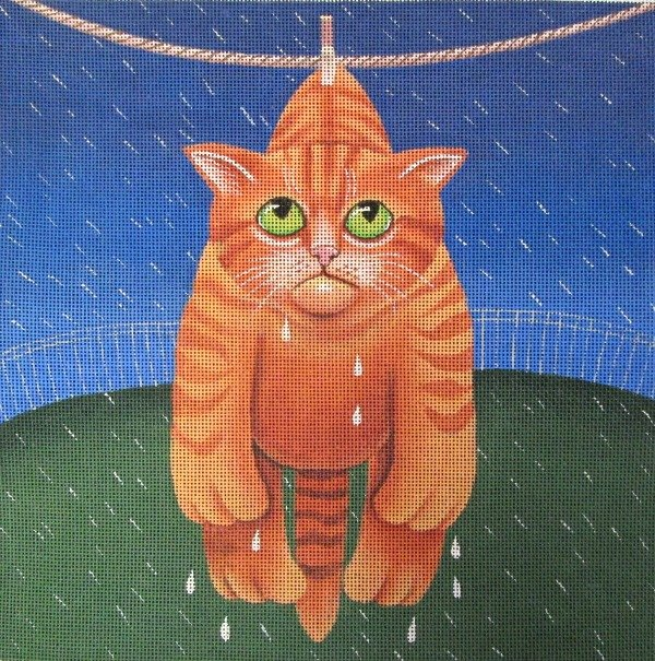 Vicky Mount Needlepoint<BR>Drying in the Rain