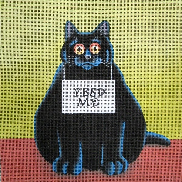 Vicky Mount Needlepoint<BR>Feed me