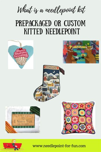What is a needlepoint kit?
