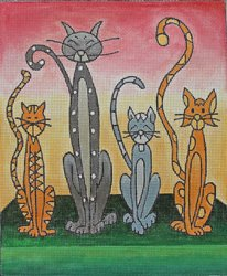 Whimsical Cats by Laurie Ludwin