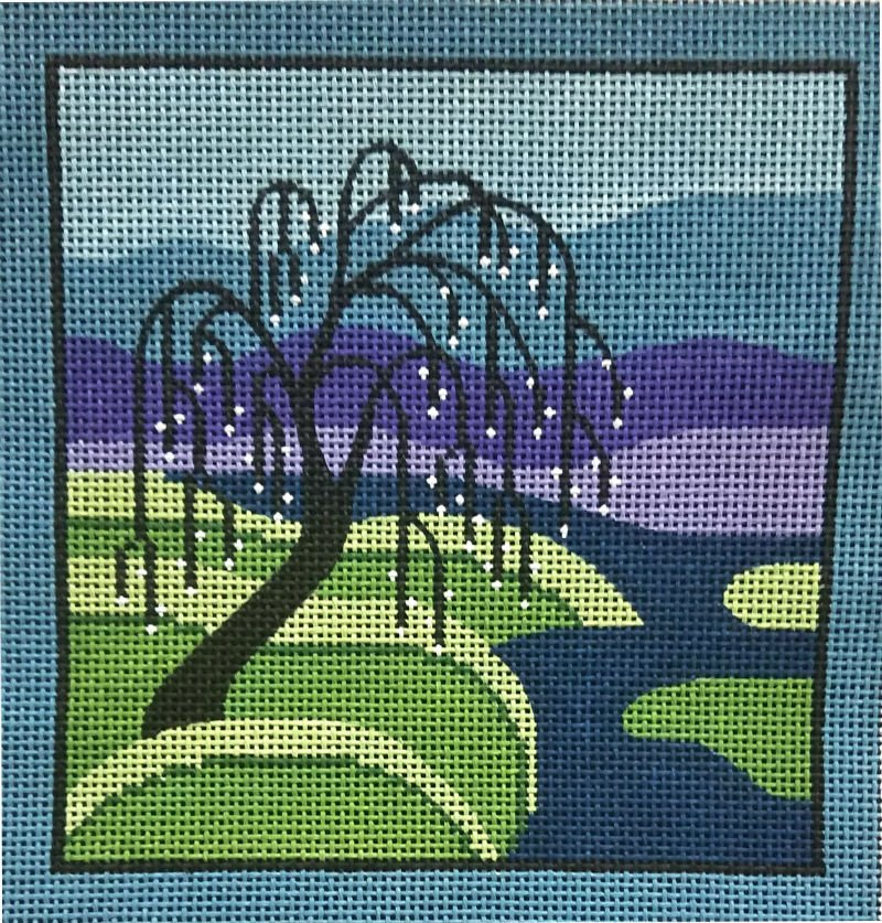 Willow on the River Arts and Crafts Inspired Needlepoint
