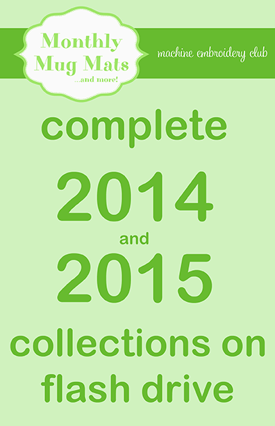 2014/2015 Monthly Mug Mats collections on USB flash drive