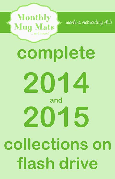 2014/2015 Monthly Mug Mats collections on USB flash drive