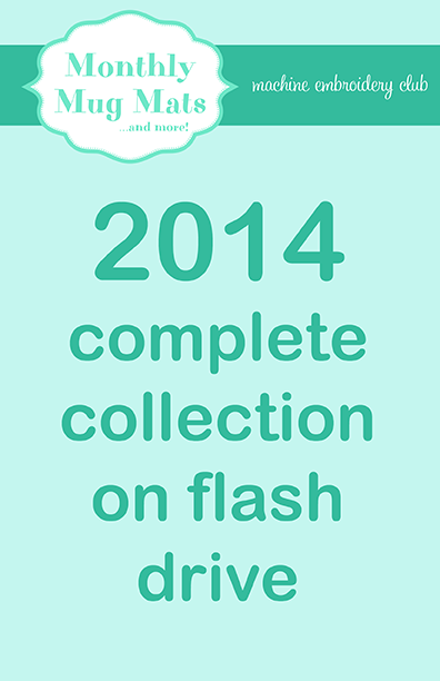 2014 Monthly Mug Mats Club complete collection on USB flash drive