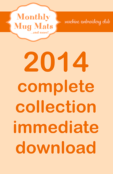 2014 Monthly Mug Mats Club complete collection download