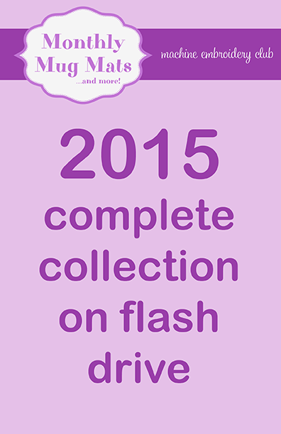 2015 Monthly Mug Mats complete collections on USB flash drive