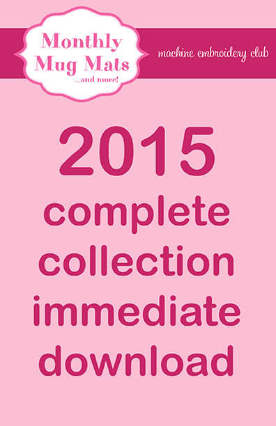 2015 Monthly Mug Mats Club complete collection download