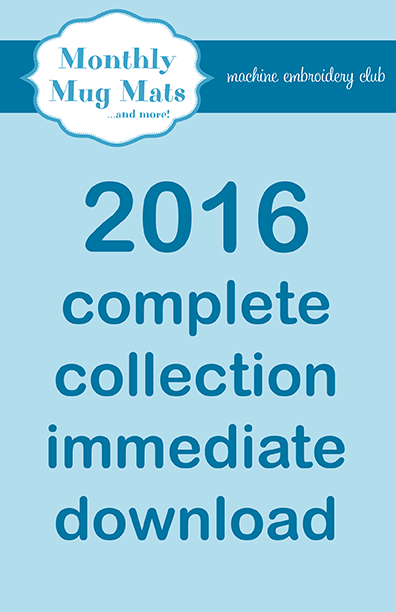 2016 Monthly Mug Mats Club complete collection download
