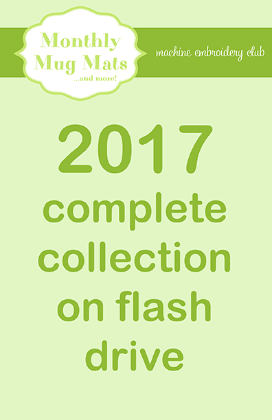 2017 Monthly Mug Mats Club complete collection on USB flash drive