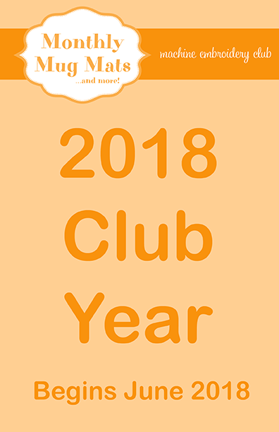 Monthly Mug Mats Club 2018/65% discount!