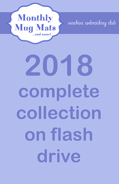 2018 Monthly Mug Mats Club complete collection on USB flash drive