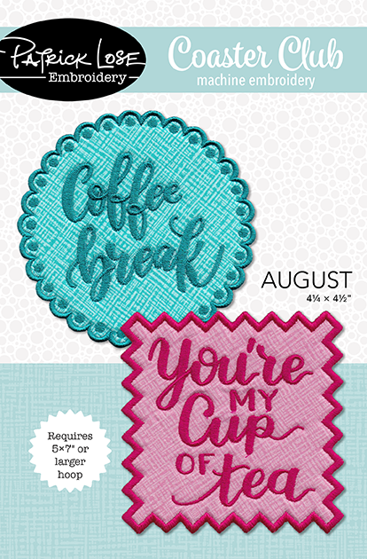 Coaster Club for 5 x 7 or larger hoops/60% discount!