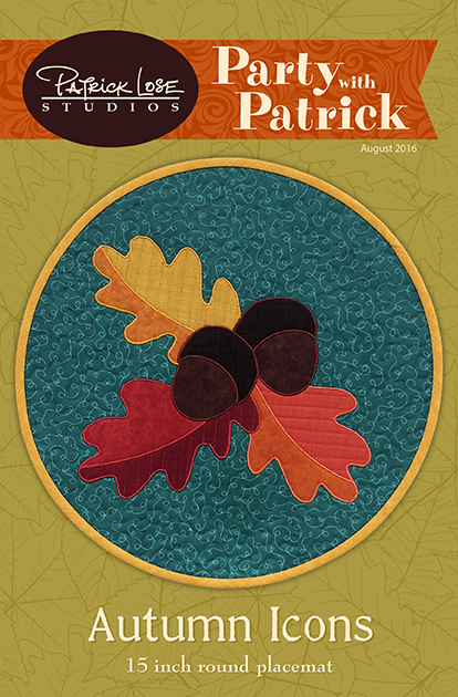 Autumn Icons placemat digital pattern