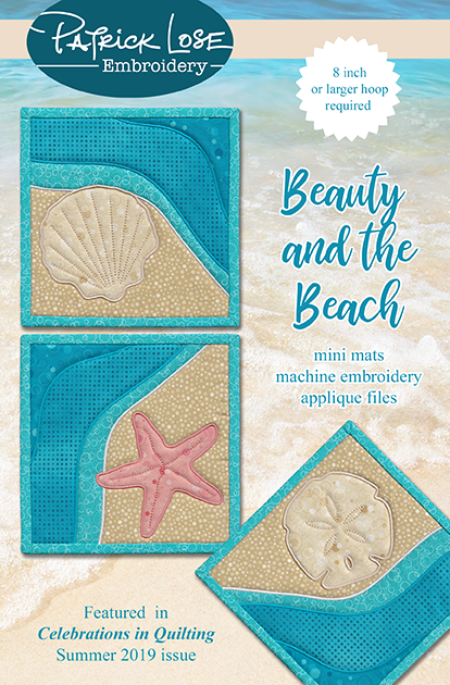 Beauty and the Beach mini mats set of 3
