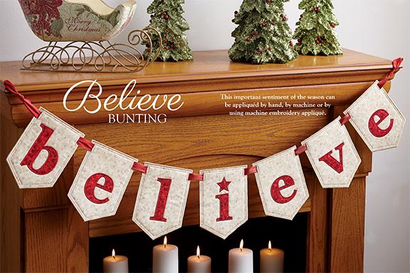 Believe bunting
