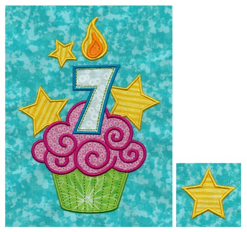 Nine Birthday Cupcakes