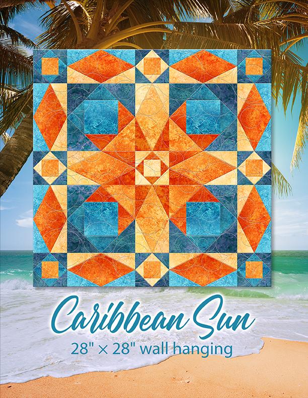 Caribbean Sun wall quilt