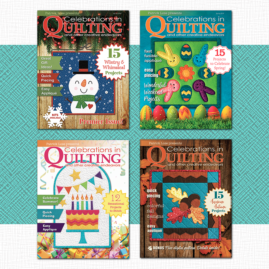 Celebrations in Quilting Volume 1 2018/2019 COMPLETE BUNDLE