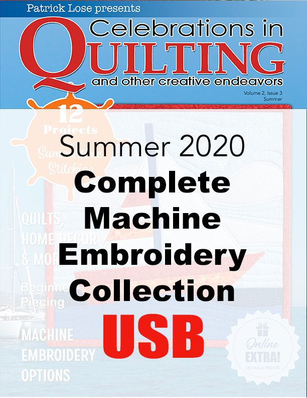 Summer 2020 Complete Machine Embroidery Collection USB