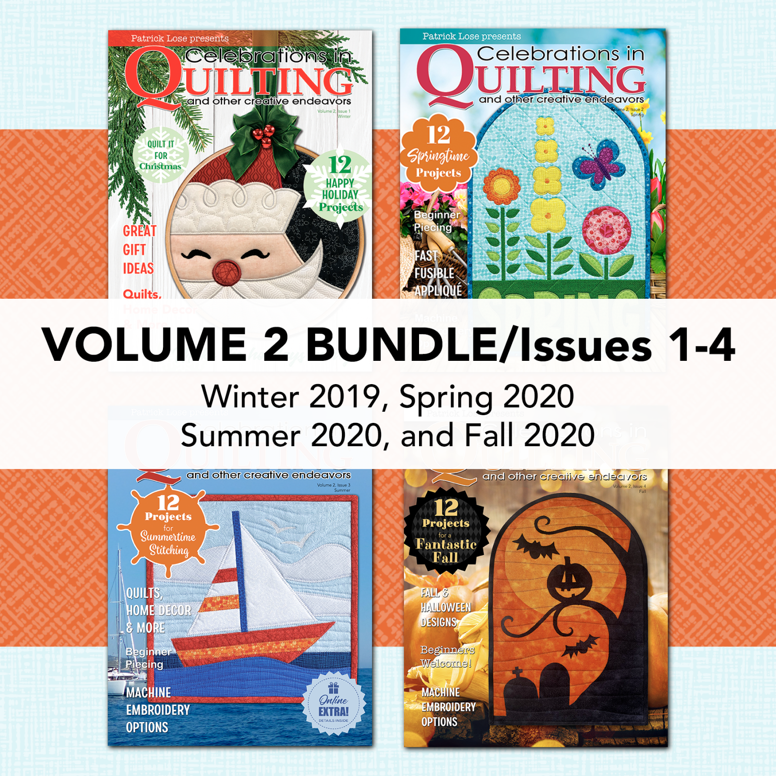 Celebrations in Quilting Volume 2 2019/2020 COMPLETE BUNDLE