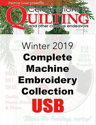 Winter 2019 Complete Machine Embroidery Collection USB