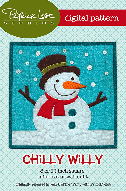Chilly Willy mini mat and wall hanging