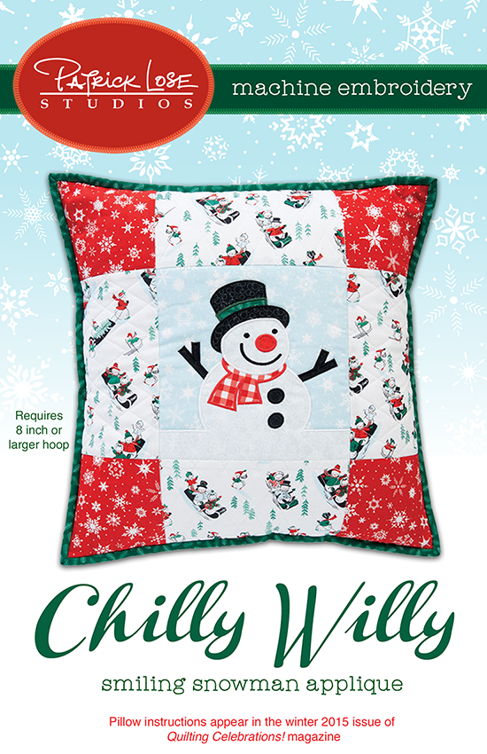 Chilly Willy pillow applique