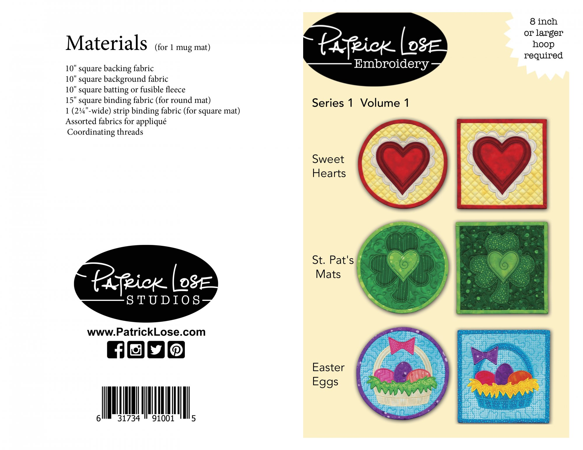 Machine Embroidery Pattern - Series One/Volume One