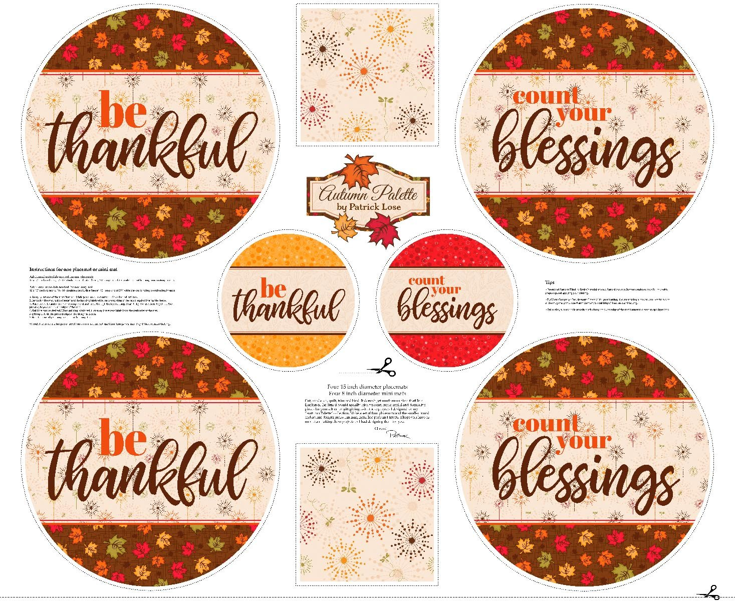 Autumn Palette Table Toppers Panel