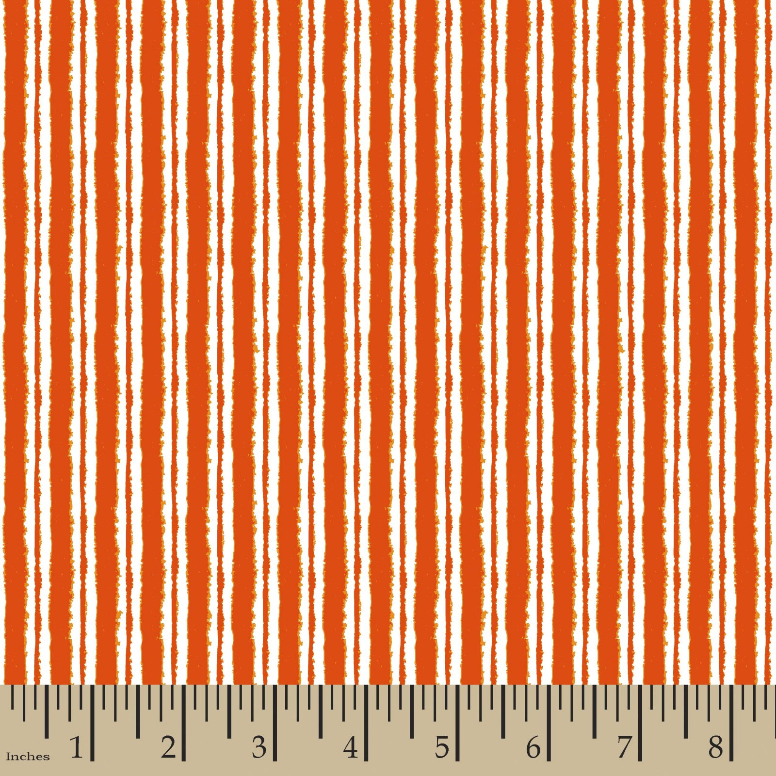 Dry Brushed Stripe Orange