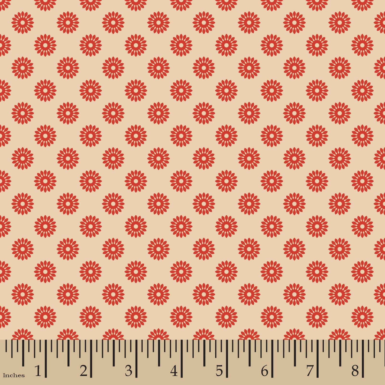 Flower Buttons Red