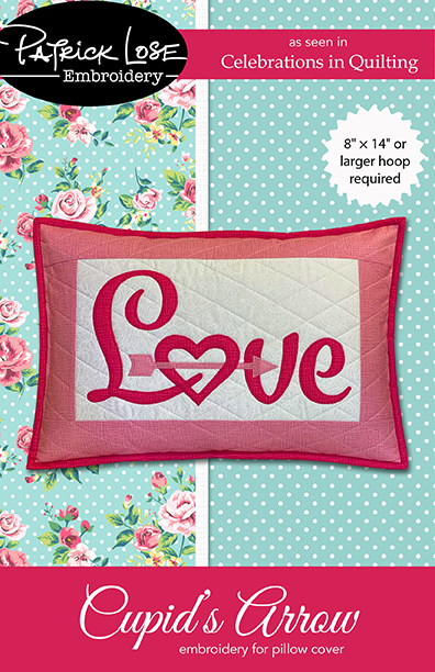 Cupid's Arrow pillow cover embroidery