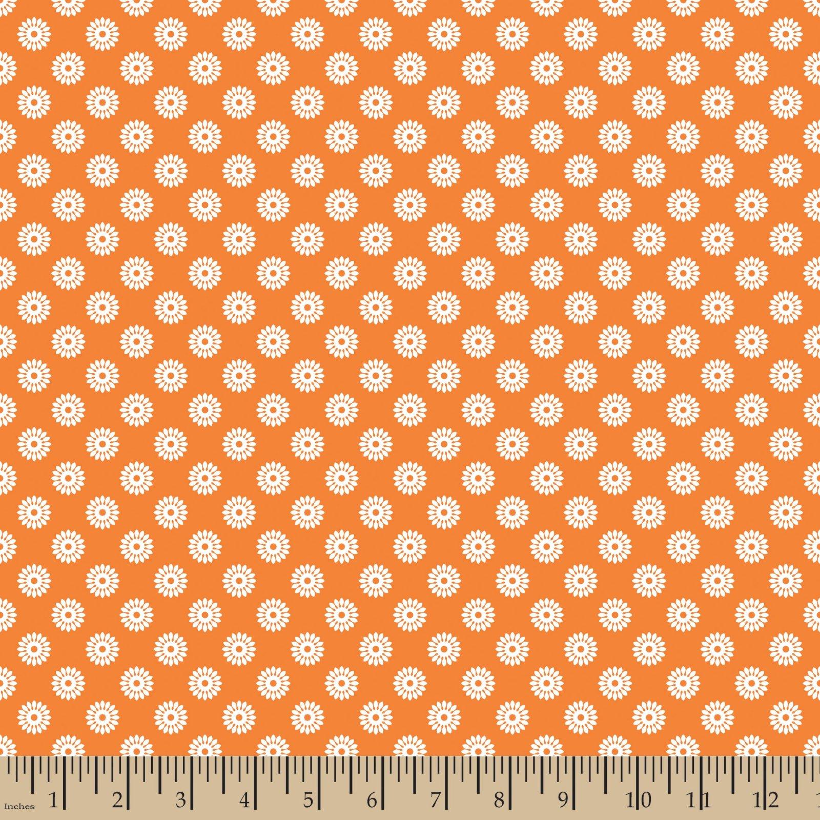 Flower Buttons Orange