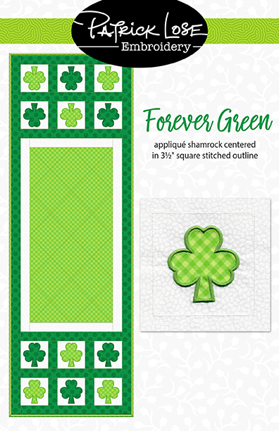 Forever Green shamrock applique block