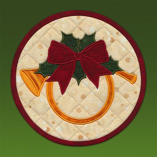 Holiday Horn mat