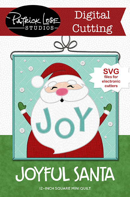 Joyful Santa digital cutting